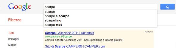 Anteprima Google Suggest.