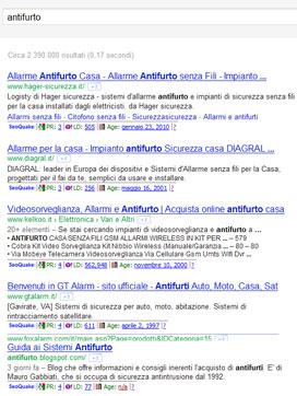 Pagina dei risultati di ricerca per Antifurto.