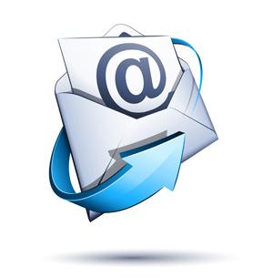 Immagine busta email posta elettronica per contatti.